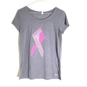 Under Armour Graphic Pink Ribbon Tee